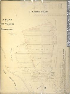 The first plan of Griffintown, commissioned by Mary Griffin