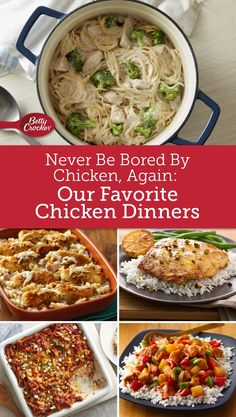 Dinner's not far off when you have chicken in the fridge and these recipes up your sleeve.