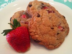 Most amazing Strawberry Chocolate Chip Cookies!