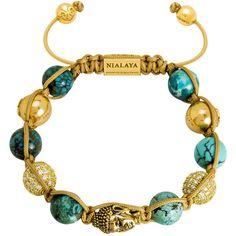 Buddha String Bracelet   Nialaya ($600) ❤ liked on Polyvore featuring jewelry, bracelets, nialaya, 14k jewelry, ball jewelry, 14 karat gold jewelry and string jewelry