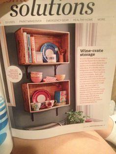 Wine crate shelf Solutions