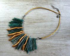 Naszyjnik - kianit w artkatalina -  biżuteria artystyczna na DaWanda.com