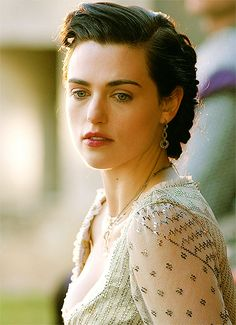 Marianne Lewis- Katie McGrath I like her hair in this one, she really almost does look like she's wearing Regency garb!
