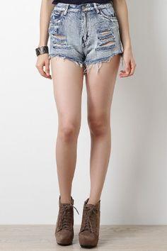 Grunge Honey High Waisted Shorts $26.50