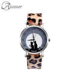 Leopard Cat Leather Quartz Watch  Price: 21.99 & FREE Shipping Cute Cat Face, Leopard Cat, Quartz Watch, Free Delivery, Free Shipping, Watches, Cats, Leather, Accessories