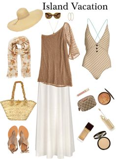 """""""Island Vacation"""" by beigs ❤ liked on Polyvore"""
