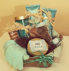 Spa gift basket by @basketworks_bh