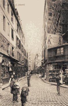 rue Galande - Paris 5ème - La rue Galande vers 1900.