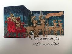 Kim's Paper Krafts - Stampin' Up Demonstrator: It's beginning to look a lot like Christmas - well at least at Stampin' Up, Santa's Sleigh, Holiday Catalogue,