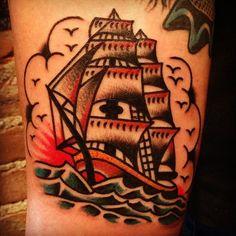 Crown Heights Clipper 2013 - @krakhouse- #webstagram  Bert Krak - Smith Street Tattoo (NY)