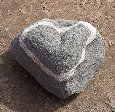 natural rock vein heartshaped
