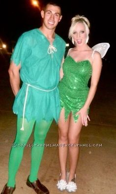 Best Peter Pan and Tinkerbell Couple Halloween Costume | Halloween costumes Peter pan and tinkerbell and I want  sc 1 st  Pinterest & Best Peter Pan and Tinkerbell Couple Halloween Costume | Halloween ...