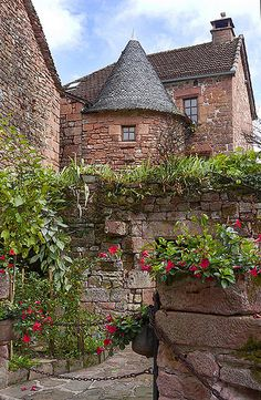 Collonges la Rouge also known as The Red City ~ is a commune in Limousin region of France and is built entirely of red sandstone.