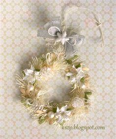 Christmas mini wreath tutorial. Klaudia Szpunar (Kszp.) for Rapakivi.