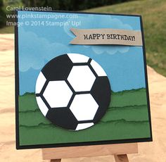 Hexagon Hive Soccer Ball July Card Class (1 of 5) Card Idea Carol Lovenstein Design -  Stampin' Up! www.pinkstampagne.com