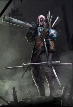 World War 2 Deadpool by Saad Irfan