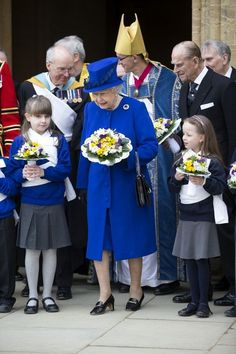 The Queen and Prince Philoip attend the annual Maundy Service in Christ Church Cathedral in Oxford, England. 28 Mar 2013 (Source: WPA Pool/Getty Images Europe):