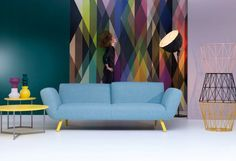 Such great use of COLE & SON's wallpaper panel 'Circus' by www.pode.nl! (=Leolux)