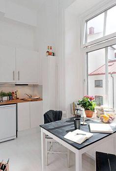 home decor decoration Small Apartment Interior, Apartment Living, Kitchen Interior, Room Interior, Studio Apartment, Compact Living, Tiny Living, Living Spaces, Tiny Spaces