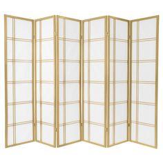 6 ft. Tall Double Cross Shoji Screen (6 Panels)