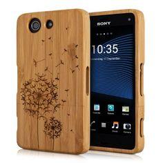 kwmobile Holz Hülle Bambus Case für Sony Xperia Z3 Compact - Handy Schutzhülle Cover mit Kompass Design in Hellbraun: Amazon.de: Elektronik