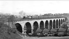 Newton cap viaduct in Bishop Auckland see's a steam engine leaving heading towards Durham Bishop Auckland, North East England, Local History, Durham, Newcastle, Steam Engine, Bridges, A3, Places