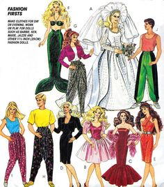 Vintage Sewing Pattern 1990s McCall's 5738 Barbie by paneenjerez, $14.00