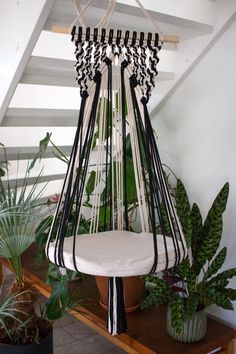Wood Hanger, Diy Crafts Room Decor, Cat Wall Furniture, Crochet Waffle Stitch, Macrame Chairs, Macrame Wall Hanging Diy, Big Pillows, Macrame Projects, Hanging Chair