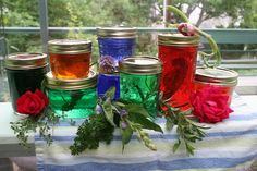Jim Long's Garden: Making Herb Jelly    Incredibly festive and decorative. Will be adding to my jelly portfolio soon.