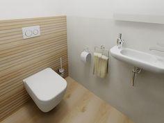 Vizualizace koupelny a wc v RD v přírodním stylu