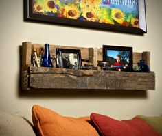 Recycled Pallet Shelves Ideas