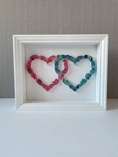 Paper Quilling Patterns, Quilling Paper Craft, Quilling Ideas, All You Need Is, Aniversary Cards, Two Hearts, Paper Hearts, Family Gifts, Love Gifts