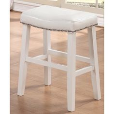 White Ranch Barstools (Set of 2) - Overstock™ Shopping - Great Deals on Bar Stools