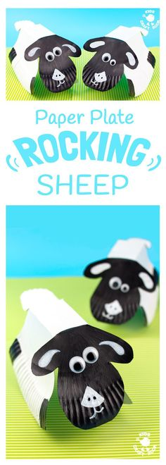 ROCKING PAPER PLATE SHEEP CRAFT - Here's a spring craft kids will love. This rocking sheep or lamb craft is easy to make and so much fun! The movement really brings this kids animal craft to life. This is a paper plate craft the kids will enjoy playing wi
