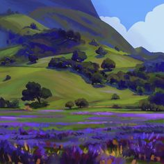 William Wendt Study by gavinodonnell on DeviantArt Landscape Concept, Fantasy Landscape, Landscape Art, Landscape Paintings, Fantasy Art, Landscape Illustration, Illustration Art, Illustrations, Environment Concept Art