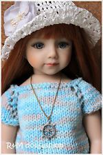 "R&M DOLLFASHION - SUMMER SALE handknit set for Effner 20"" Maru and friends dolls"