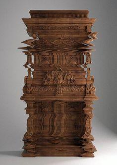"""""""Good Vibrations"""", une incroyable création de l'architecte / designer Ferruccio Laviani, inspirée par le phénomène du """"Glitch Art"""", utilisant les bugs informatiques et vidéo comme source de création."""