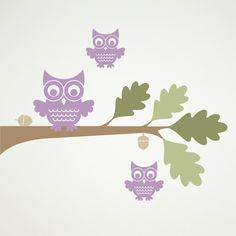 Woodland Owl Tree Branch Wall Decal by graphicspaces
