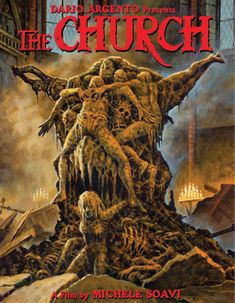 A young Asia Argento stars in one of her first performances. Dario Argento presents the insane, gory horror epic THE CHURCH on Special Ultimate Edition Blu-Ray! All Horror Movies, Sci Fi Horror, Arte Horror, Horror Art, Good Movies, Horror Movie Posters, Movie Poster Art, Dario Argento, Best Horrors