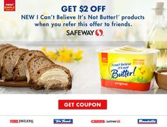 I Can't Believe It's Not Butter!® Coupon | Save Up to $2! #timetobelieve #spon