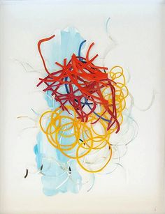 """Lines and Outlines II, Barbara Owen, TANGIBLE LINES, Acrylic and Ink on Cut Paper, 14"""" x 11"""""""