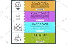 Spa salon web banner templates set
