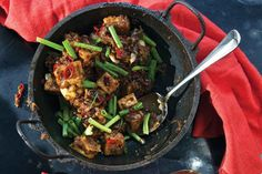 Black Pepper Tofu by Saveur. The recipe for this spicy, fried bean curd comes from Plenty (Chronicle Books, by Yotam Ottolenghi. Tofu Recipes, Asian Recipes, Vegetarian Recipes, Cooking Recipes, Healthy Recipes, Delicious Recipes, Oriental Recipes, Savoury Recipes, Chinese Recipes
