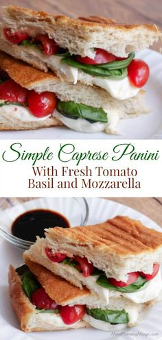 Roasted Tomatoes, Fresh Mozzarella & Basil Panini Recipe ...