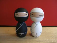 Kokeshi wedding ninjas by Kokeshi Clan, Dayton