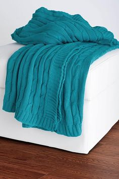 #HomeDecorators Decorative Cable Knit Throw - Throws & Blankets - Bed Linens - Linens & Fabrics | HomeDecorators.com