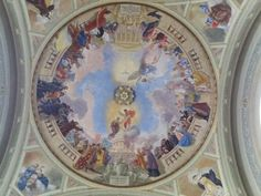love ceiling paintings - from church in eger