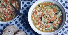 There's nothing like a warm soup on a cold Winter's day. This vegetable soup is filled with yummy potato, zucchini, celery, carrots and pasta. Puree some if the kids don't like chunky soup! Kidspot Recipes, Online Cookbook, Summer Squash, Toddler Meals, Celery, Vegan Vegetarian, Zucchini, Carrots, Potatoes