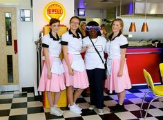 Opening of Hot Rod Cafe - with the staff