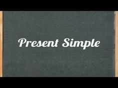 Present Simple Tense - English grammar tutorial video lesson
